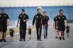 Romain Grosjean, Lotus F1 Team anda no circuito