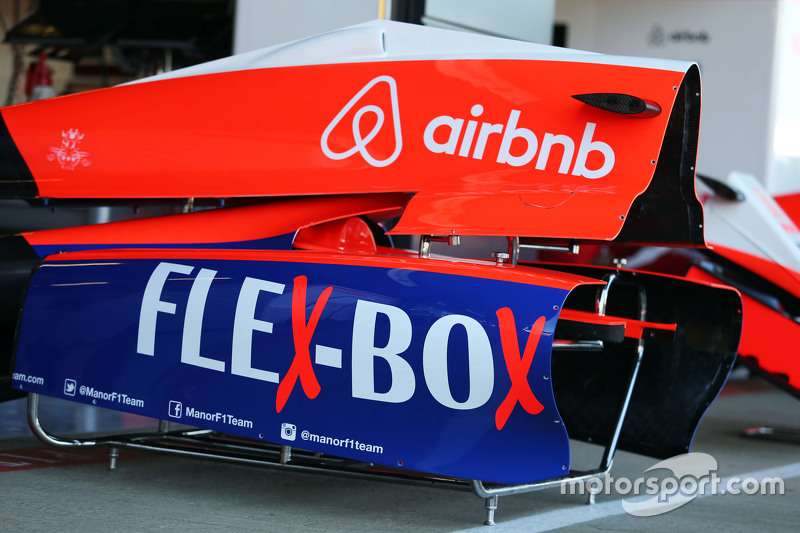 Manor F1 Team engine cover