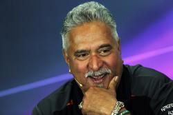 Dr. Vijay Mallya, Sahara Force India F1 eigenaar in de FIA persconferentie