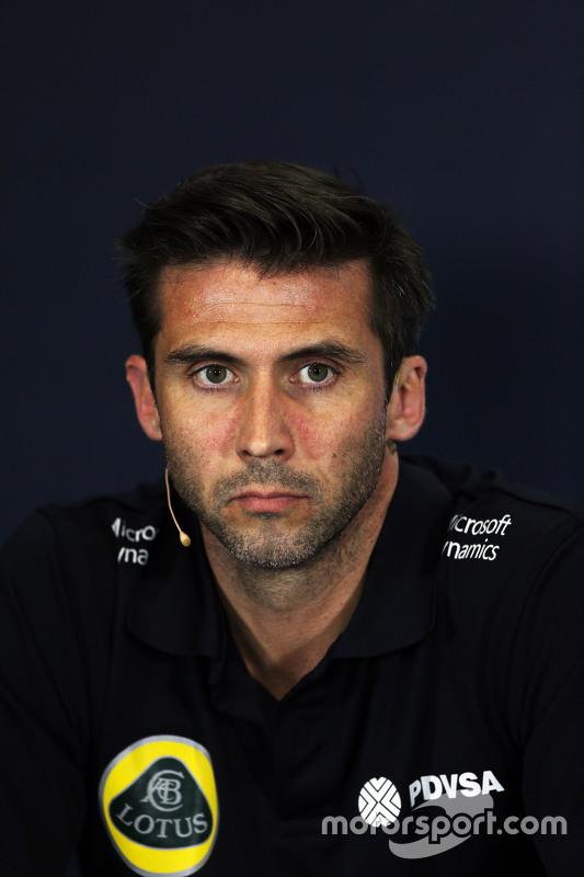 Matthew Carter, Lotus F1 Team CEO di FIA Press Conference
