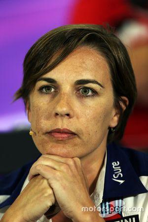 Claire Williams, Williams Deputy Team Principal na coletiva de imprensa da FIA
