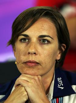 Claire Williams, Williams afgevaardigd teambaas in de FIA persconferentie