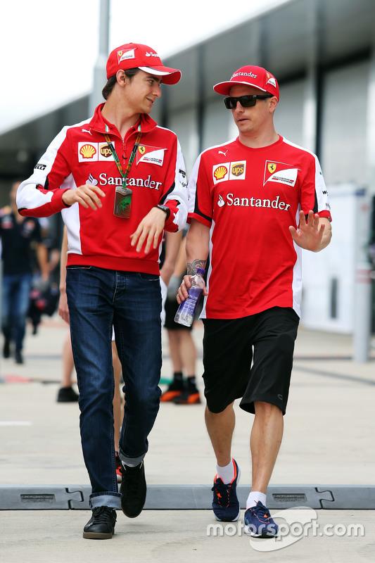 Esteban Gutierrez, Ferrari Test and Reserve Driver with Kimi Raikkonen, Ferrari