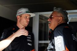 Nico Hulkenberg, Sahara Force India F1 com Dr. Vijay Mallya, dono Sahara Force India F1 Team