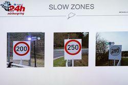 Zona lambat dijelaskan pada monitor