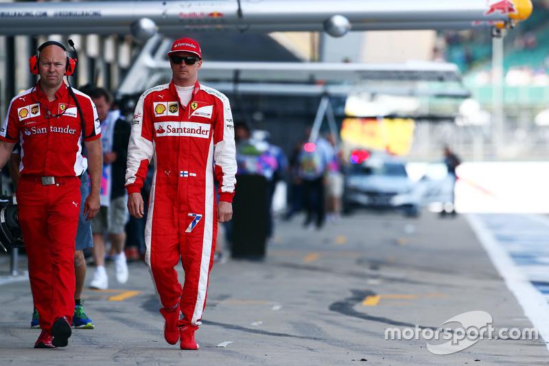 Kimi Räikkönen, Ferrari, mit Mark Arnall, persönlicher Trainer