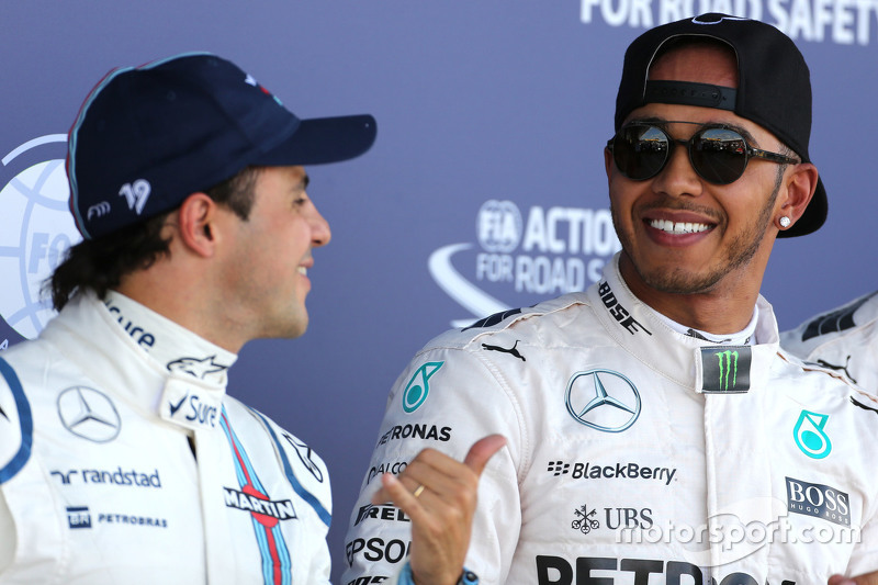 Lewis Hamilton, Mercedes AMG F1 Team and Felipe Massa, Williams F1 Team