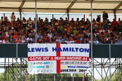 A flag from Lewis Hamilton, Mercedes AMG F1 fans
