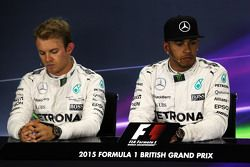 Nico Rosberg e Lewis Hamilton, Mercedes AMG F1 alla Conferenza Stampa FIA