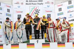 Podium: winners Felipe Laser, Michaela Cerruti, Felipe Laser, second place Peter Dumbreck, Alexandre