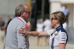 Didier Coton, Manager met Susie Wolff, Williams Development Driver