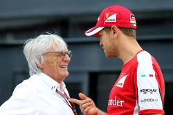 Bernie Ecclestone, and Sebastian Vettel, Scuderia Ferrari