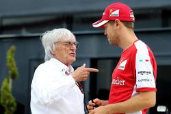 Bernie Ecclestone y Sebastian Vettel, Scuderia Ferrari