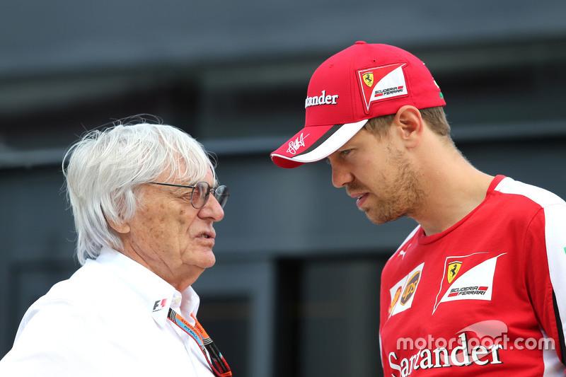 Bernie Ecclestone, et Sebastian Vettel, Scuderia Ferrari