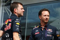 Dominik Mitsch, Red Bull Racing Head of Marketing with Christian Horner, Red Bull Racing Team Principal