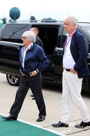 Bernie Ecclestone, with his lawyer Ali Malek QC