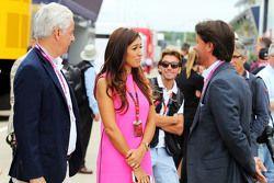 Ali Malek QC, with Fabiana Flosi, wife of Bernie Ecclestone