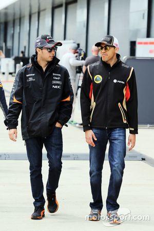 Sergio Pérez, Sahara Force India F1 con Pastor Maldonado, Lotus F1 Team