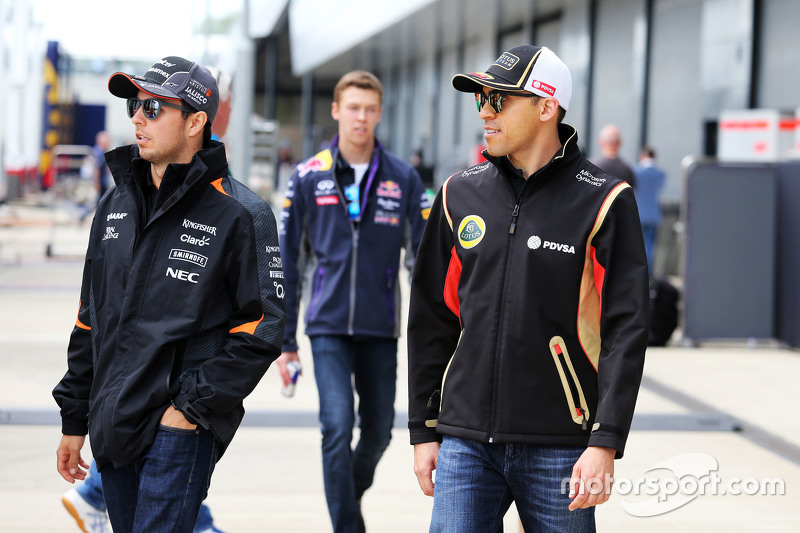 Sergio Perez, Sahara Force India F1 bersama Pastor Maldonado, Lotus F1 Team