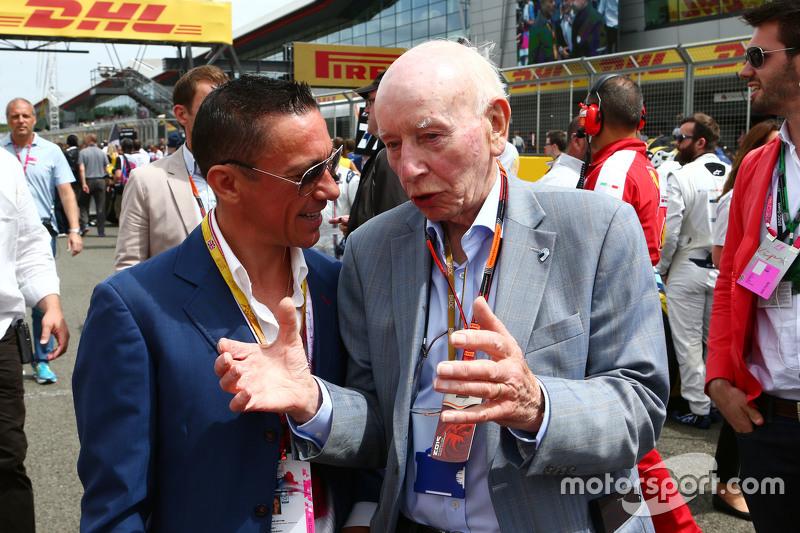 Frankie Dettori, Jockey with John Surtees, on the grid