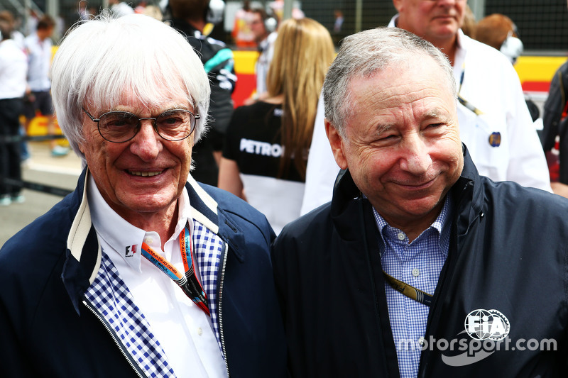 Bernie Ecclestone, with Jean Todt, FIA President on the grid