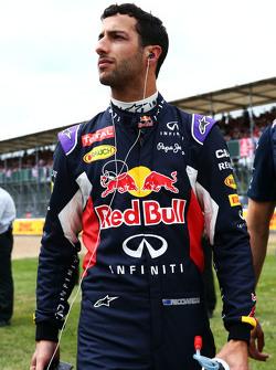 Daniel Ricciardo, Red Bull Racing, in der Startaufstellung