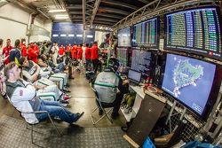 Bentley Team garage area