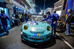 #44 Team Falken Tire Porsche 997 GT3 R in the paddock