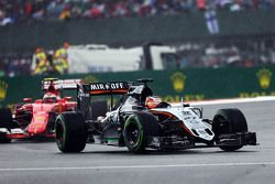Nico Hulkenberg, Sahara Force India F1 VJM08, en la lluvia.