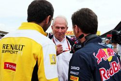 Cyril Abiteboul, Renault Sport F1, Dr Helmut Marko, Red Bull Motorsport y Christian Horner, Red Bull