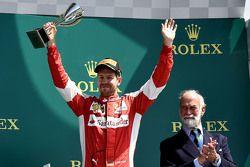 Terceira colocação Sebastian Vettel, Ferrari
