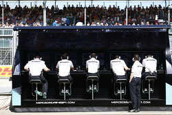 Le muret des stands Mercedes AMG F1 Team