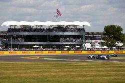 Felipe Massa, Williams FW37 leads Valtteri Bottas, Williams FW37 and Lewis Hamilton, Mercedes AMG F1 W06