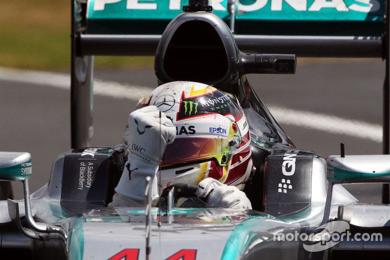 Ganador, Lewis Hamilton, Mercedes AMG F1 W06 celebra