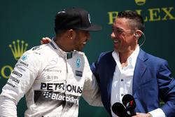 The podium,: Race winner Lewis Hamilton, Mercedes AMG F1 with Frank Dernie,