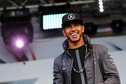 Lewis Hamilton, Mercedes AMG F1 no show pós-corrida