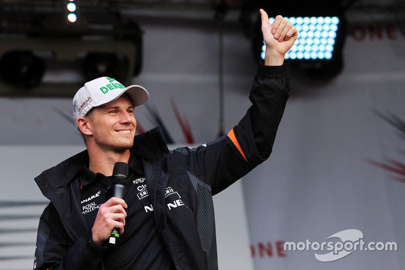 Nico Hulkenberg, Sahara Force India F1 di post race concert