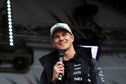 Nico Hulkenberg, Sahara Force India F1 en el concierto después de la carrera