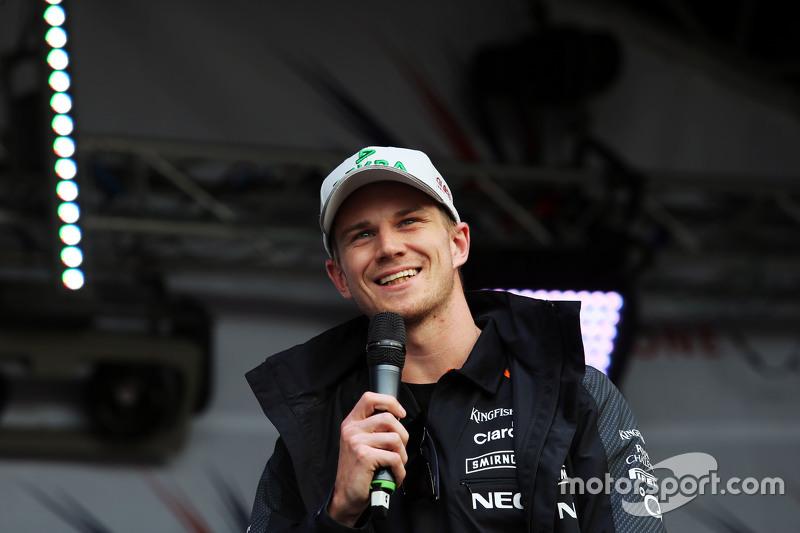 Nico Hulkenberg, Sahara Force India F1 at the post race concert