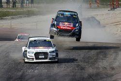Mattias Ekström, EKSRX Audi S1 quattro y Timmy Hansen, Team Peugeot Hansen