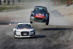Mattias Ekström, EKSRX Audi S1 quattro et Timmy Hansen, Team Peugeot Hansen