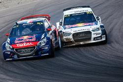 Davy Jeanney, Team Peugeot Hansen y Anton Marklund, EKSRX Audi S1 quattro