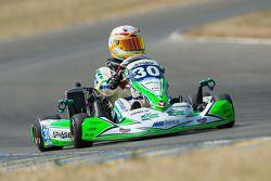 #30 Arnage Team Racing, Kart: Tony Blin, Olivier Paris, Alizée Guilmain, Simon Broad