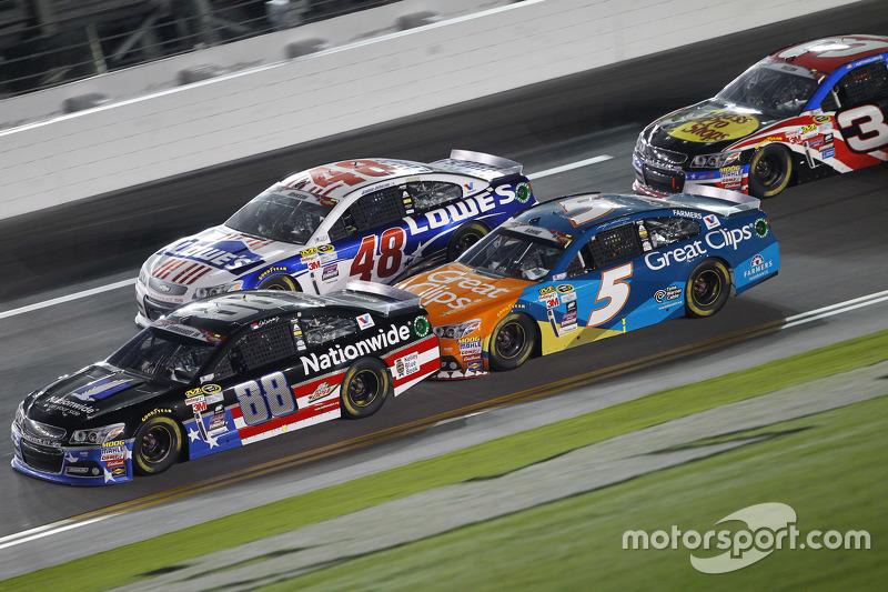Dale Earnhardt Jr., Hendrick Motorsports Chevrolet, Jimmie Johnson, Hendrick Motorsports Chevrolet d