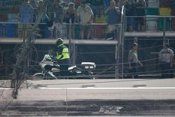 Le trou dans le grillage du Daytona International Speedway