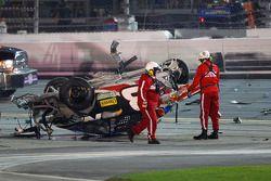 La voiture détruite d'Austin Dillon, Richard Childress Racing Chevrolet