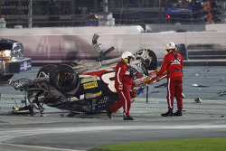 El auto destrozado de Austin Dillon, Richard Childress Racing Chevrolet