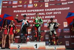 Награждение победителей: Алексей Иванов - первое место, Сергей Крапухин - второе место, Антон Еремин