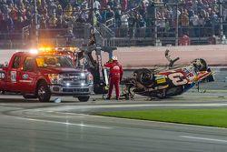 Mobil yang rusak milik Austin Dillon, Richard Childress Racing Chevrolet