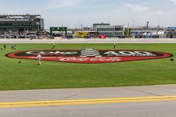 The infield grass